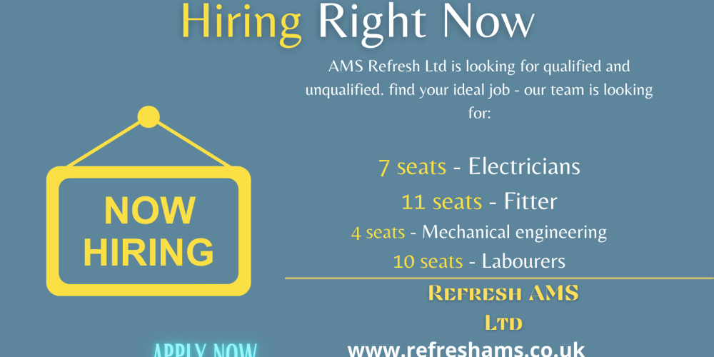 Hiring now skilled and unskilled workers